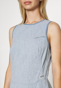 G-Star - FIT AND FLARE DRESS S\LESS - Denim dress - rinsed - 5