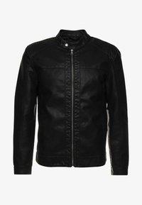 ONSMIKE RACER JACKET - Faux leather jacket - black