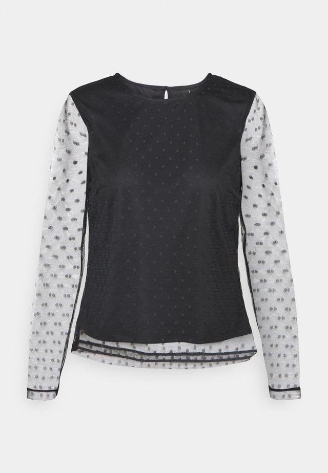 YASLISSO O NECK - Camiseta de manga larga - black