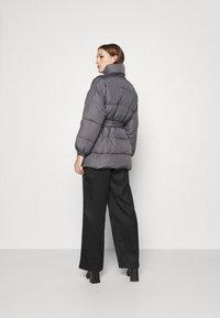 Who What Wear - ZIP FRONT PUFFER JACKET - Winter jacket - slate - 2