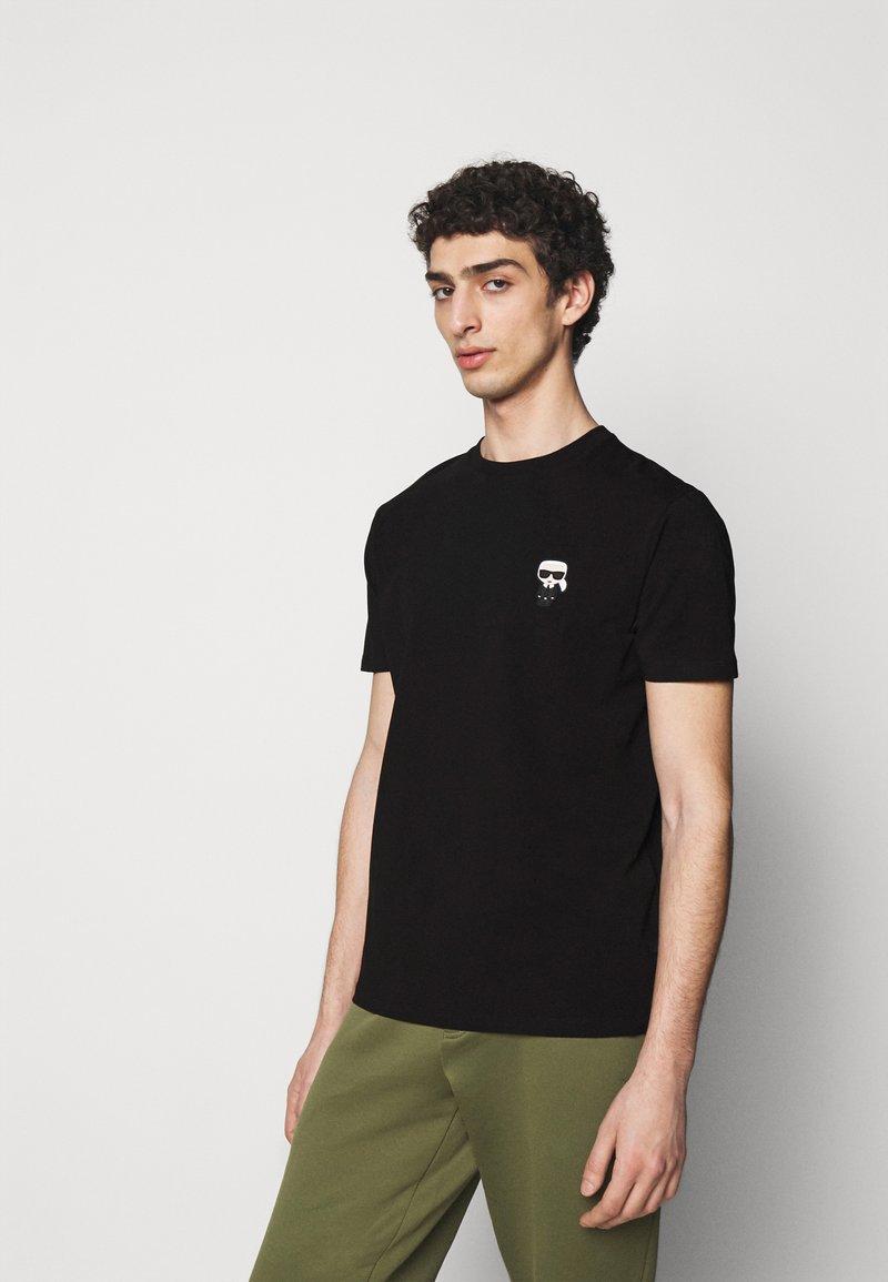 KARL LAGERFELD - CREWNECK - T-shirt con stampa - black