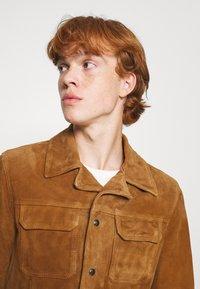 AllSaints - ADAIRE JACKET - Leather jacket - tan - 3