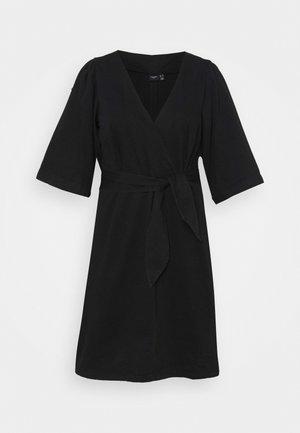 VMFAYE SHORT DRESS - Denim dress - black