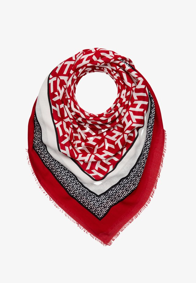 MONOGRAM FRAME SQUARE - Foulard - red