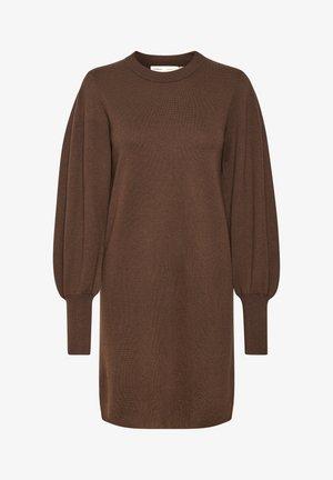 Day dress - coffee brown