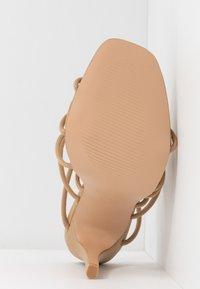 Public Desire - SAVY - Sandály na vysokém podpatku - nude - 6