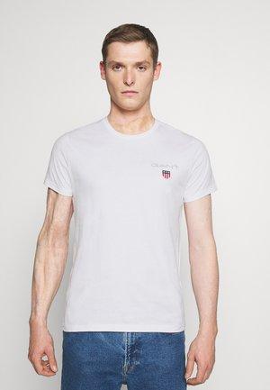 MEDIUM SHIELD - T-shirt - bas - white
