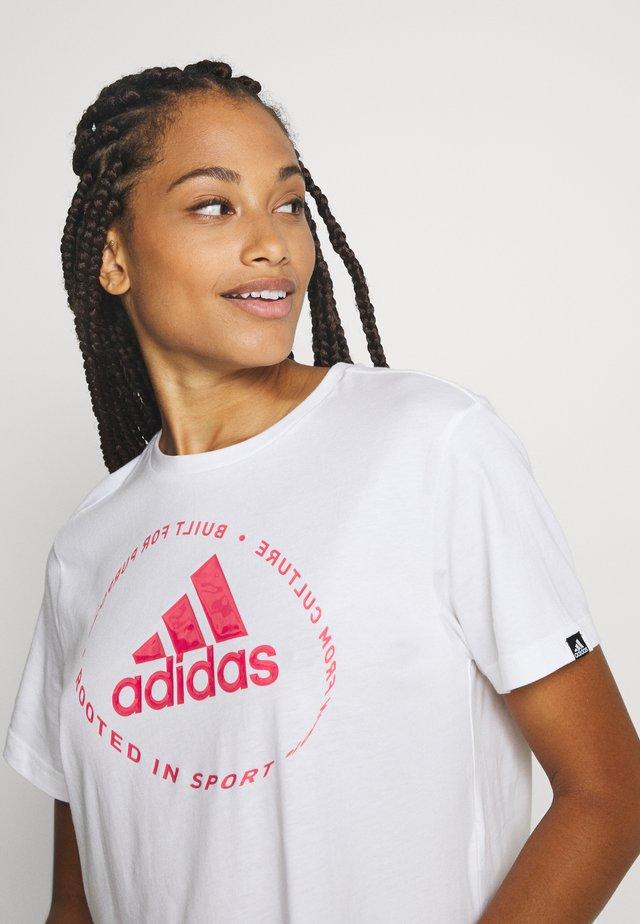 CIRCLED TEE - T-shirt con stampa - white