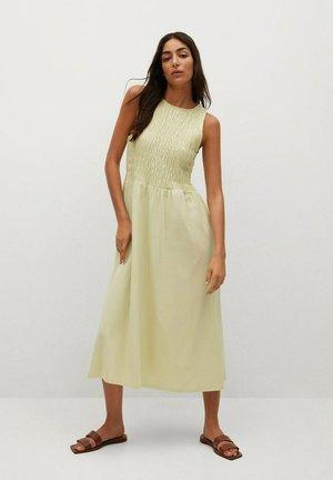 Sukienka z dżerseju - zieleń lima