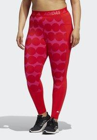 adidas Performance - MARIMEKKO - Leggings - vivid red - 0