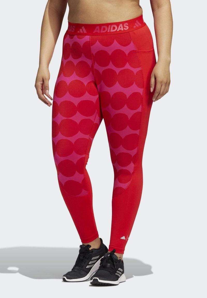 adidas Performance - MARIMEKKO - Leggings - vivid red