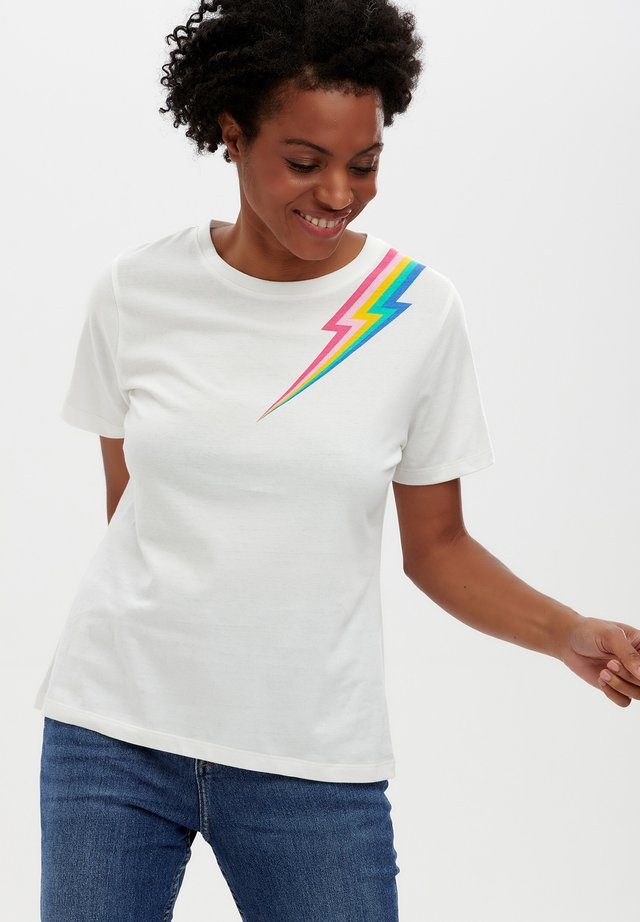 T-shirt print - off- white