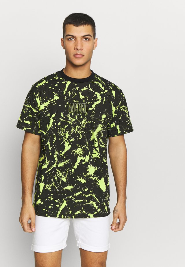 SPLAT TEE - T-Shirt print - black/green