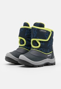 Geox - FLANFIL BOY WPF - Winter boots - navy/lime - 1