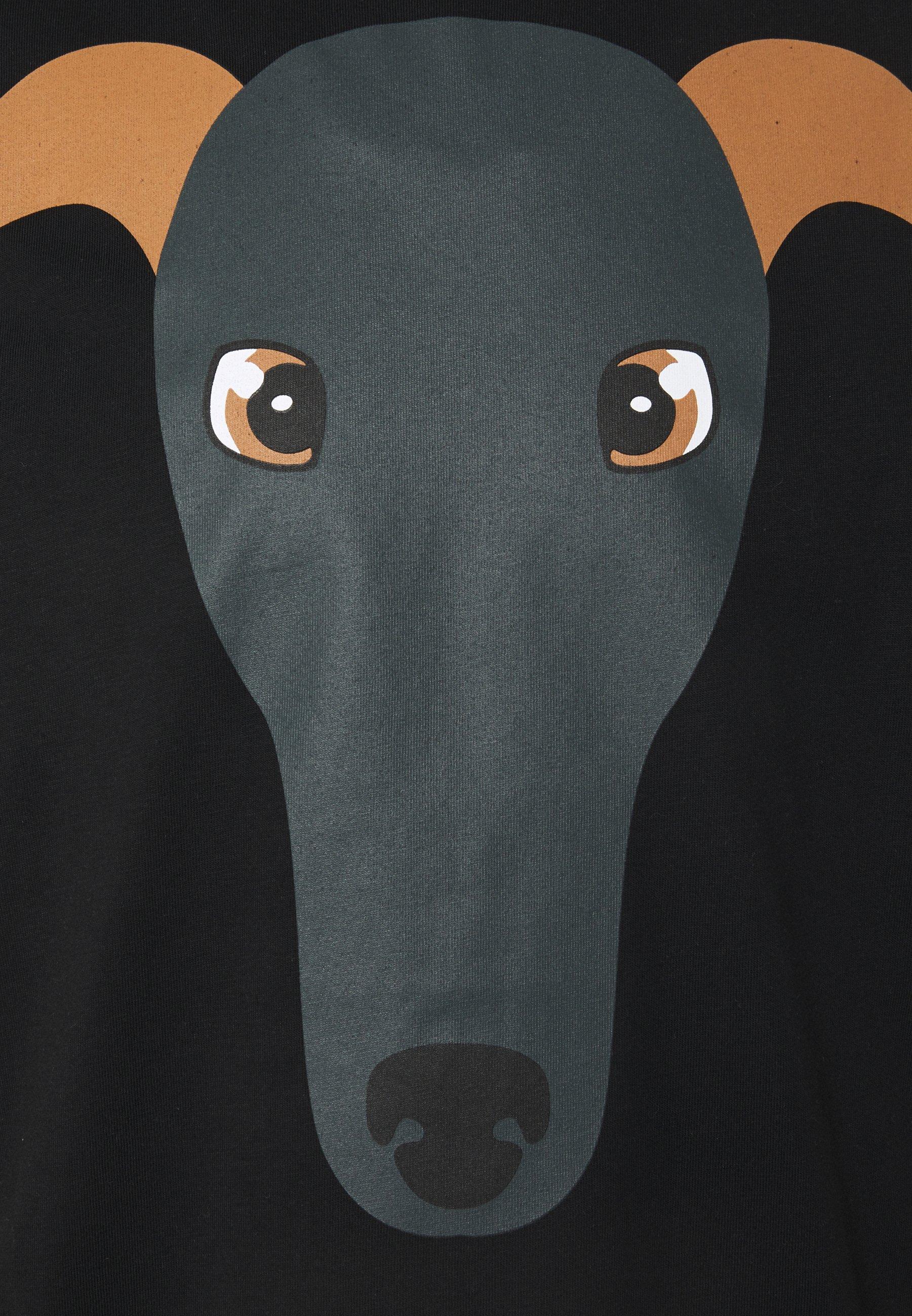 Trussardi PURE - Print T-shirt - black F4JOd