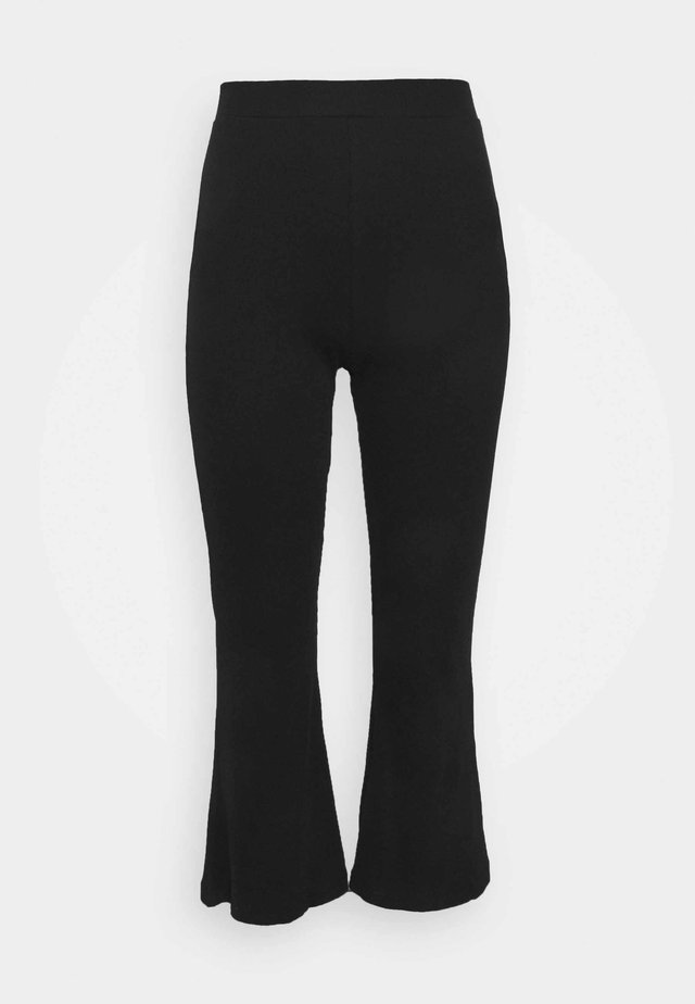 WIDE LEG TROUSERS  - Trousers - black