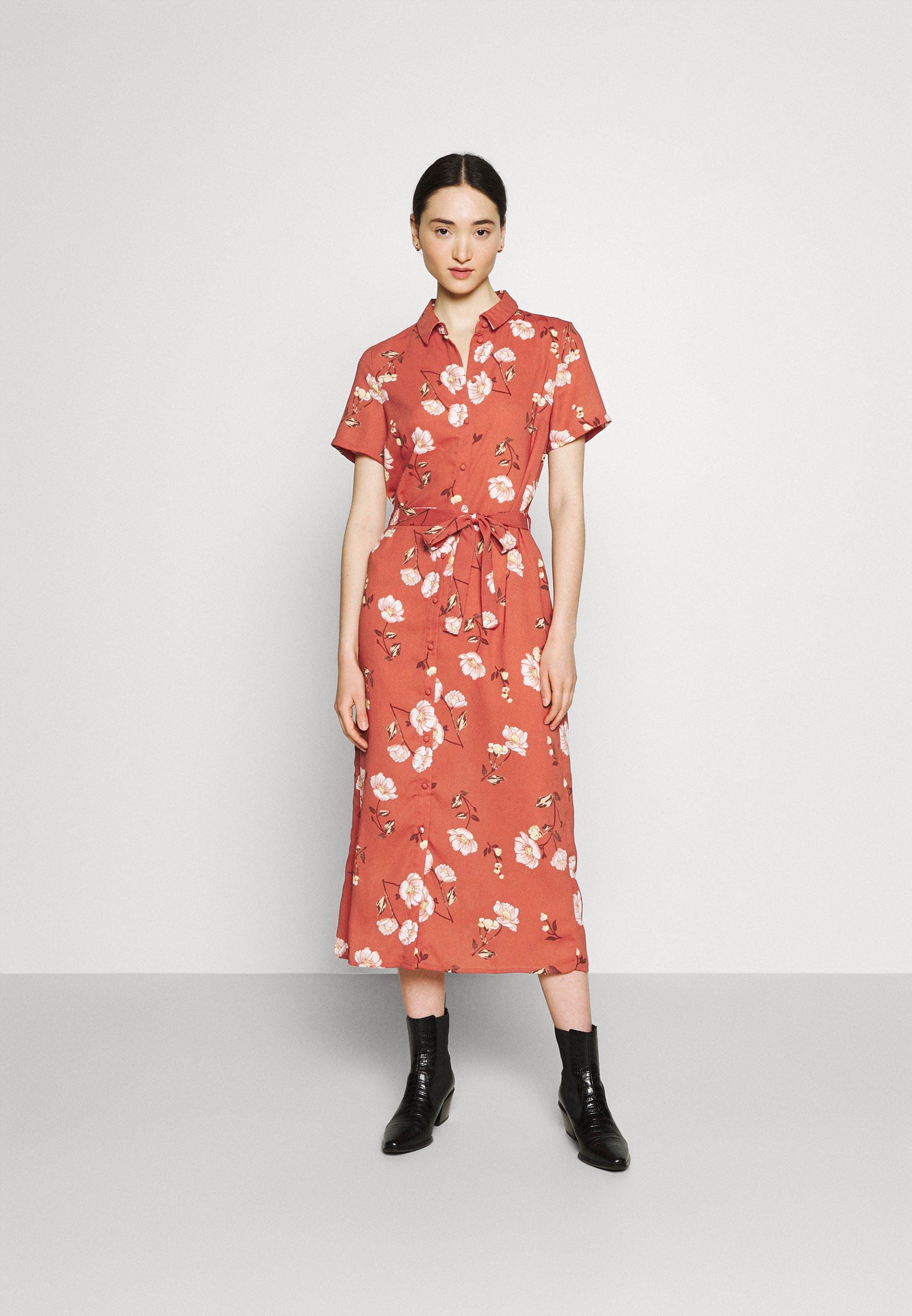 Women VMMELLIE LONG SHIRT DRESS - Shirt dress