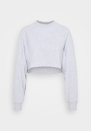 LIFESTYLE CROP RAGLAN  - Sweater - grey marle