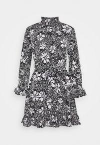 New Look Petite - DAISY PRINT TIE WAIST MINI - Day dress - black pattern - 0