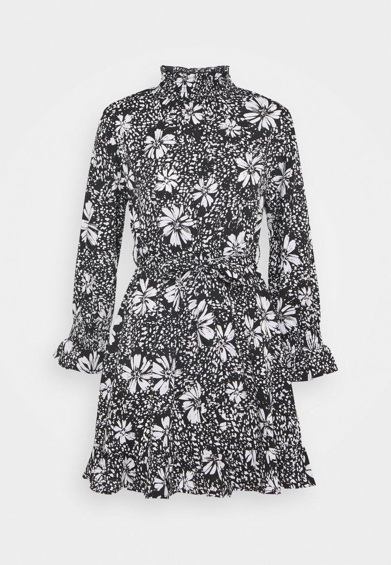 New Look Petite - DAISY PRINT TIE WAIST MINI - Day dress - black pattern