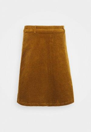 NUMEGHAN - A-line skirt - bronze