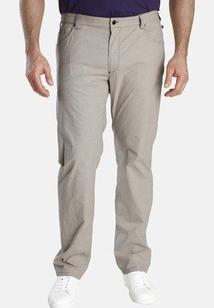 BARON JEFF - Trousers - beige gemustert