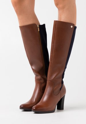 BOOTS - High heeled boots - cognac