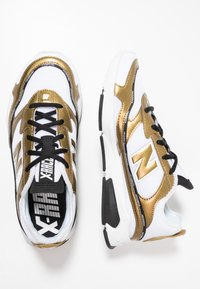 New Balance - X-RACER  - Sneakers - white/gold - 5