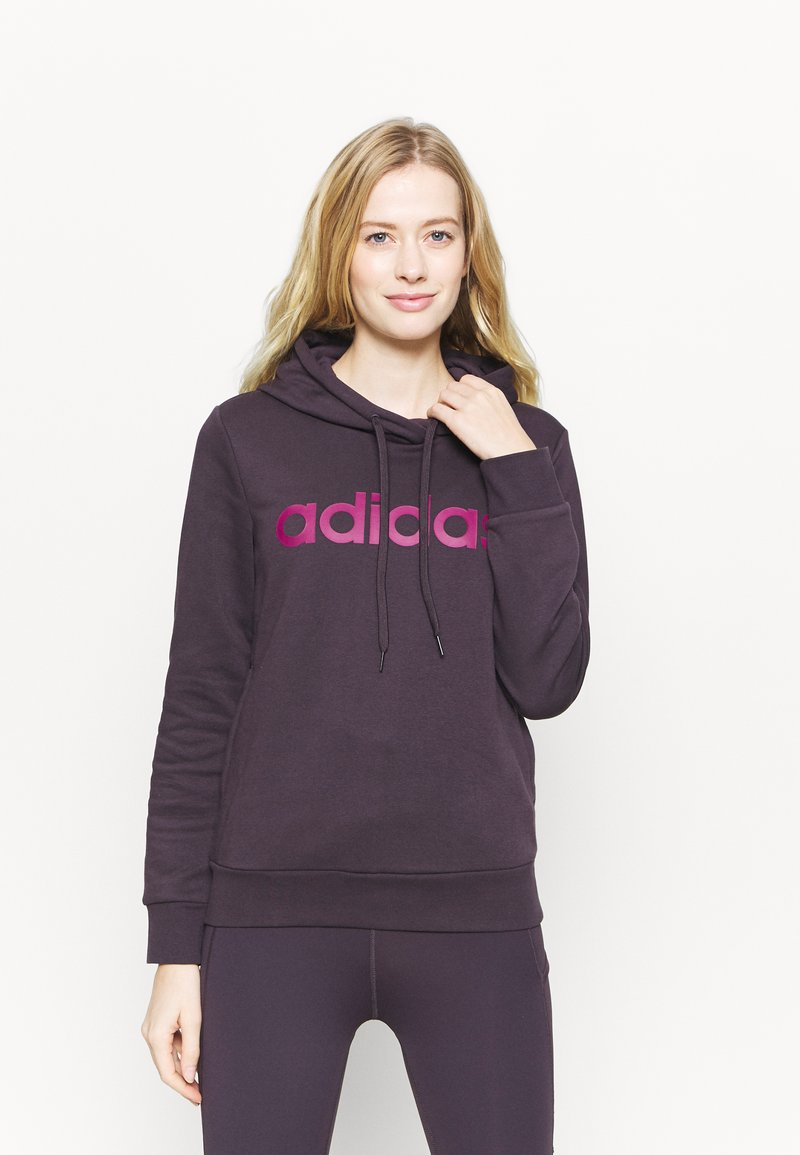 adidas Performance - Jersey con capucha - noble purple/power berry