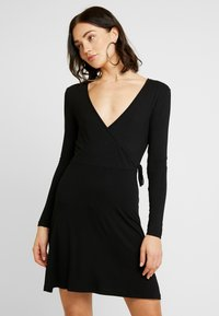 Even&Odd - JEARSEYKLEID BASIC - Jersey dress - black - 0