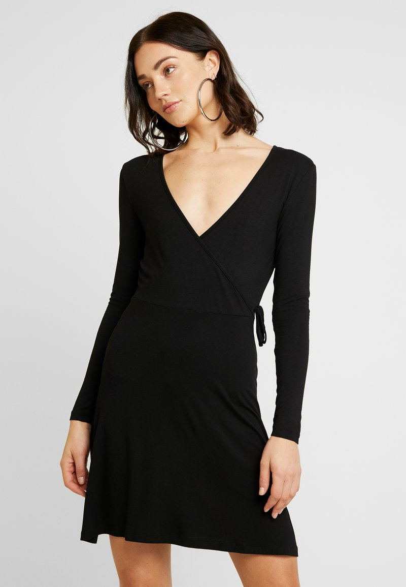 Even&Odd - JEARSEYKLEID BASIC - Jersey dress - black