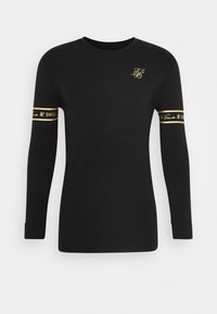 SIKSILK - TECH SCRIPT TEE - Long sleeved top - black/gold - 3