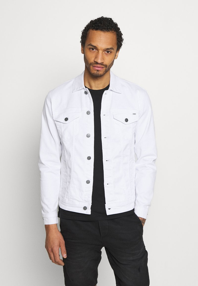 Only & Sons - ONSCOIN LIFE TRUCKER - Denim jacket - white denim