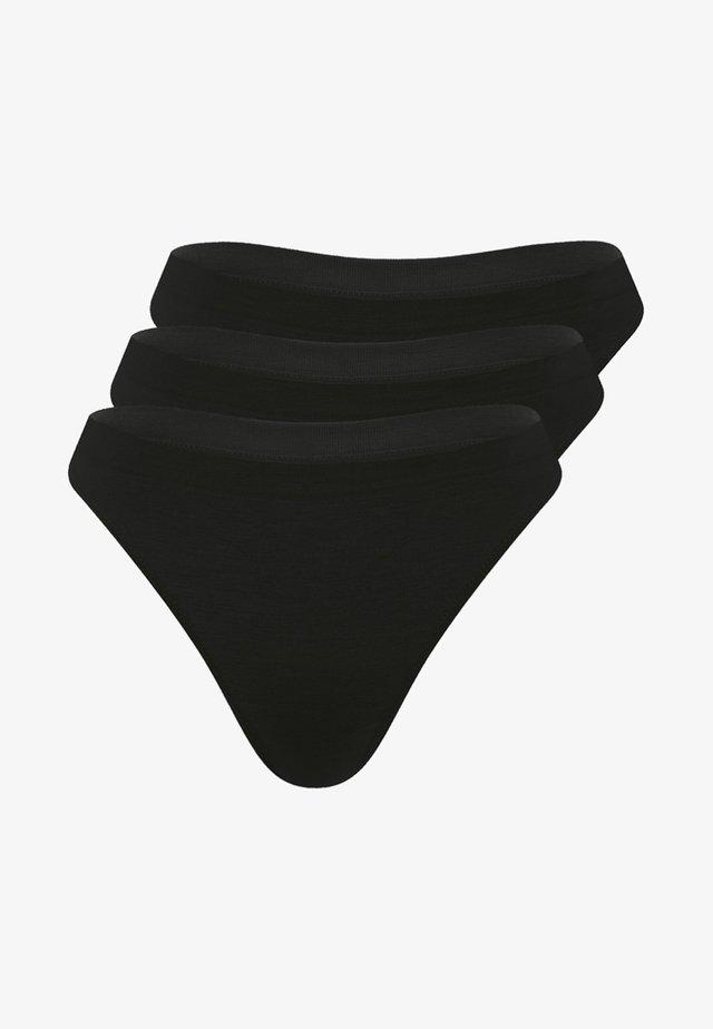 STRING 'JUST EASY' 3ER PACK - Thong - black