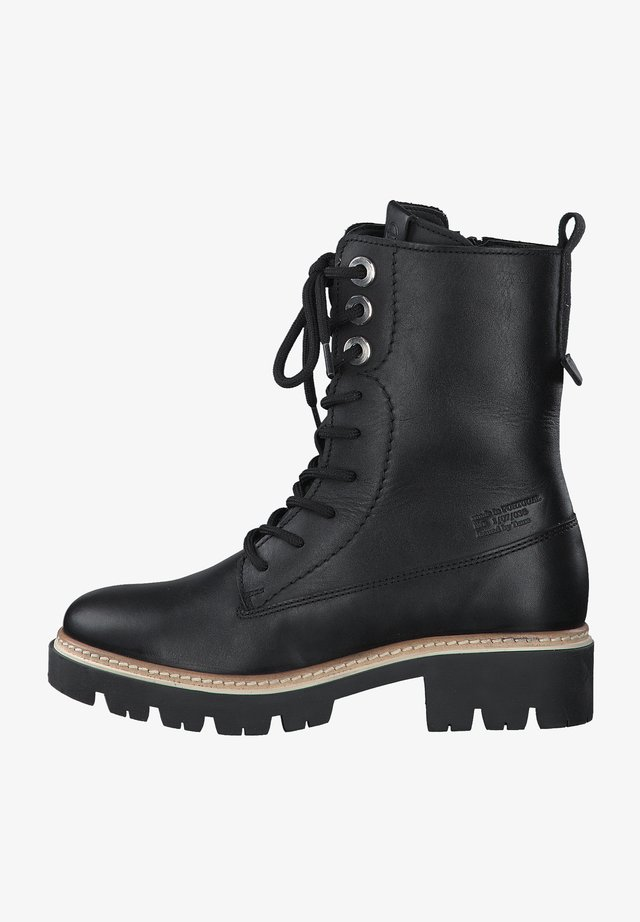 Snørestøvletter - black leather