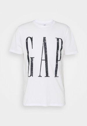 LOGO DISTRESS - Print T-shirt - white