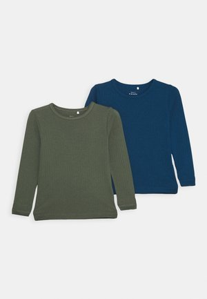 NKMVAY SLIM 2 PACK - Long sleeved top - gibraltar sea