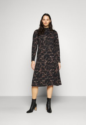 SAPPHIRE MIDI DRESS - Day dress - black