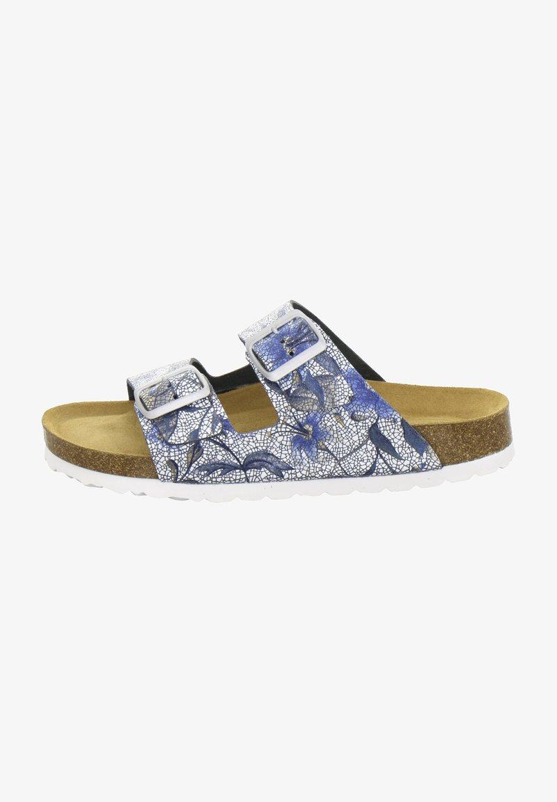 AFS Schuhe - ZWEISCHNALLER - Slippers - marine flower