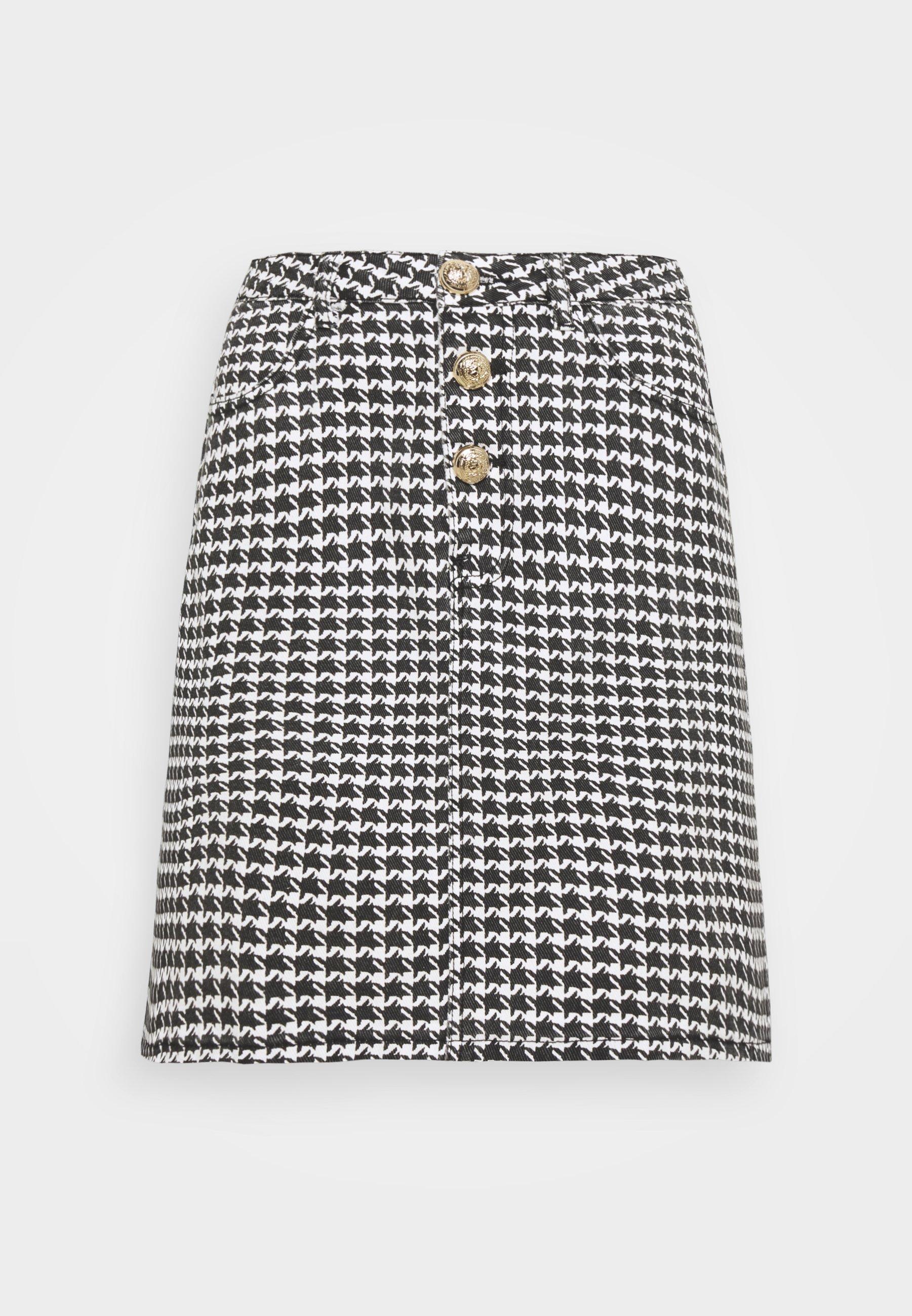 Women HOUNDSTOOTH SKIRT - Mini skirt