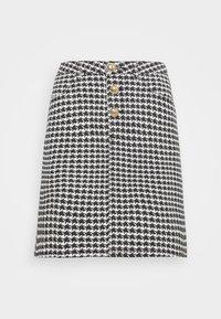 Missguided Tall - HOUNDSTOOTH SKIRT - Mini skirt - black - 0