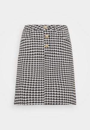 HOUNDSTOOTH SKIRT - Minijupe - black