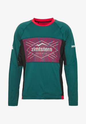 TECHZONEZ MEN - Funktionsshirt - pacific green/cyber red/granite green