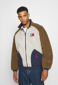 Tommy Jeans - REVERSIBLE RETRO JACKET - Veste mi-saison - light silt/multi - 0