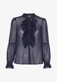 PULZ - PXSTARBLUE SHIRT - Button-down blouse - dark sapphire - 5