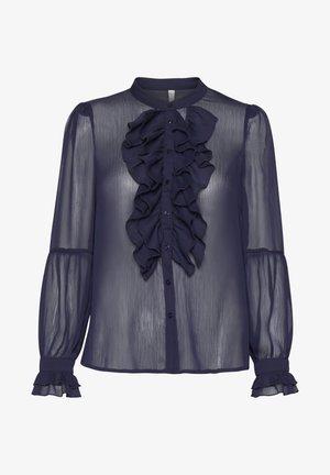 PXSTARBLUE SHIRT - Button-down blouse - dark sapphire