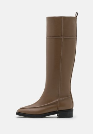 PINCH STITCH LONG BOOTS - Saappaat - chestnut