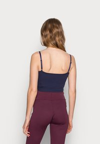 Anna Field MAMA - 2ER PACK CROP NURSING CAMI  - Toppe - black/dark blue - 2