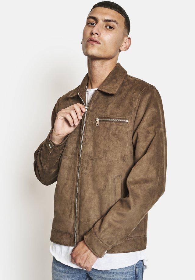 Veste en similicuir - dark brown