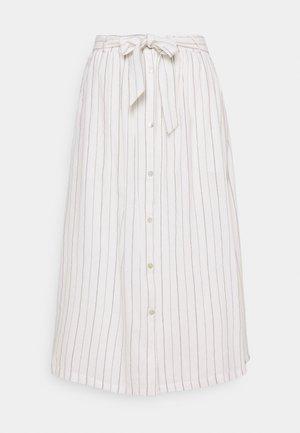 VICKIE MIDI SKIRT - A-line skirt - snow white/off white